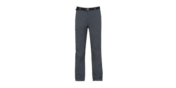 Pánske antracitové strečové nohavice Bergson