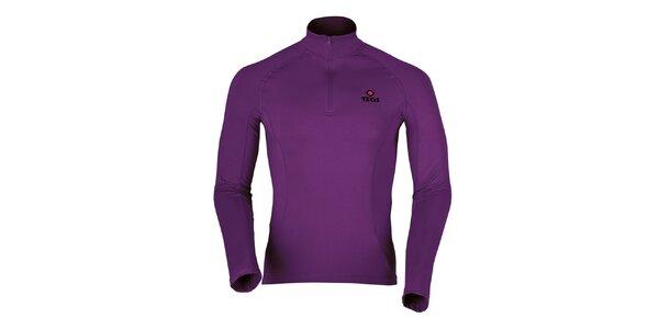 Pánske fialové termo tričko s dlhým rukávom Izas