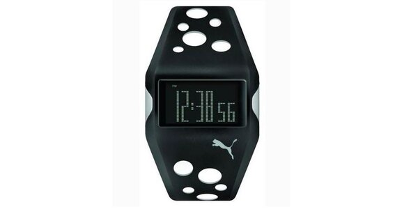 Unisex digitálne hodinky Puma Active Motorsport Black/white
