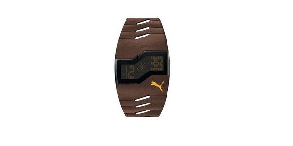 Pánske digitálne hodinky Puma Active Brown