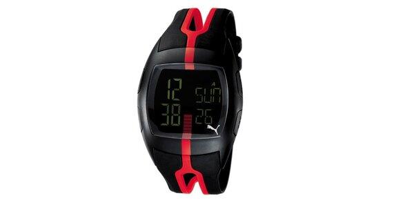Unisex digitálne hodinky Puma Jump Black/Red