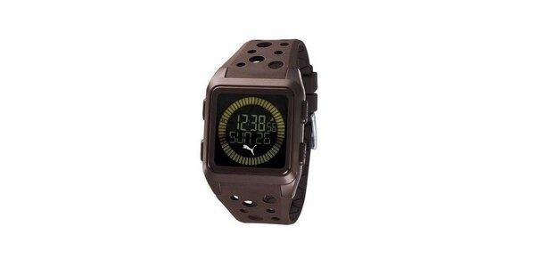 Pánske digitálne hodinky Puma Agitation brown