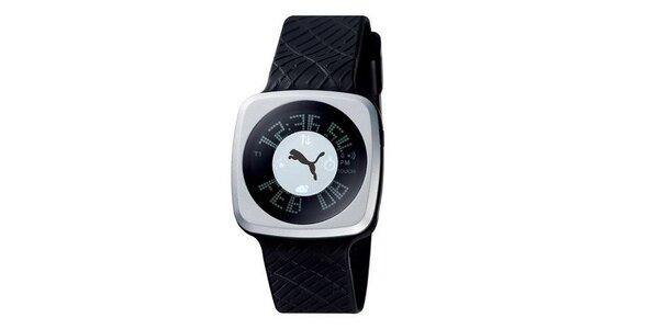 Pánske digitálne hodinky Puma Blockbuster Gents Silver