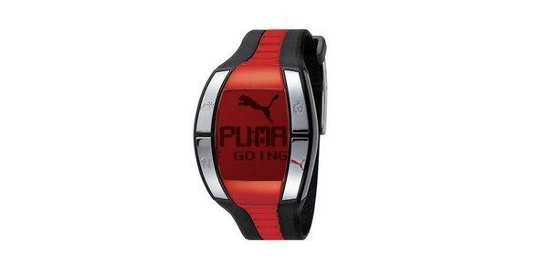 Pánske digitálne hodinky Puma Active Fluctuation Black/Red