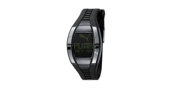 Dámske digitálne hodinky Puma Active Fluctuation Black