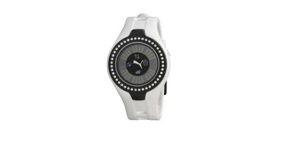 Dámske digitálne hodinky Puma Blockbuster white