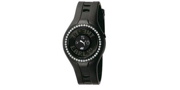 Dámske digitálne hodinky Blockbuster Circuit Black Stones
