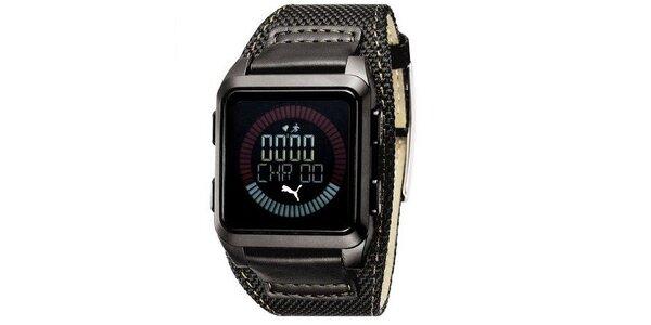 Pánske digitálne hodinky Puma Storm of Agitation black