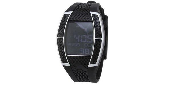Dámske digitálne hodinky Puma Top Fluctuation Black