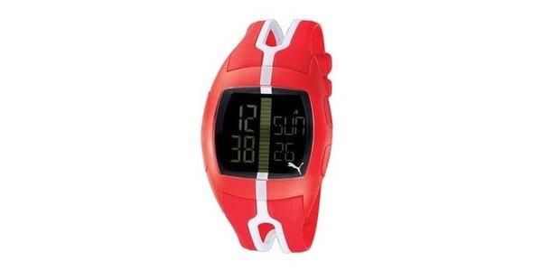 Unisex digitálne hodinky Puma Jump Red/White