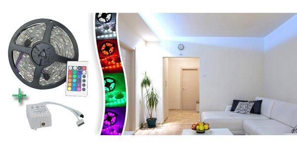 Svietiaci LED pás na diaľkové ovládanie