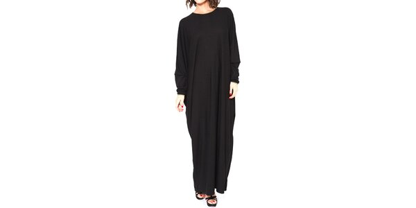 Dámske čierne dlhé oversized šaty Mademoiselle Agathe