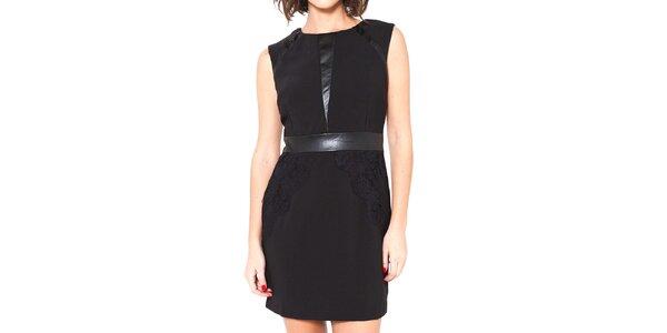 Dámske čierne šaty bez rukávov Mademoiselle Agathe
