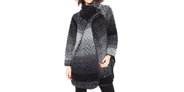 Dámsky šedý kabátik Mademoiselle Agathe