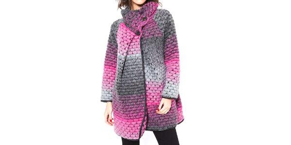 Dámsky ružovo-šedý kabátik Agatha