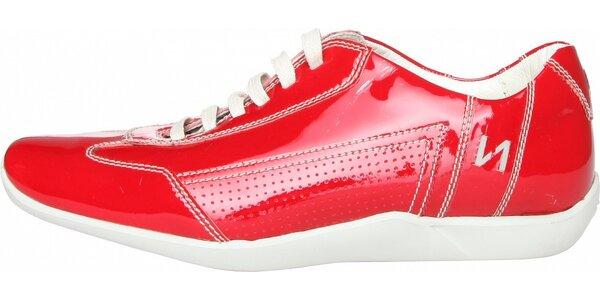 Dámske červené kožené tenisky Fratelli Rossetti