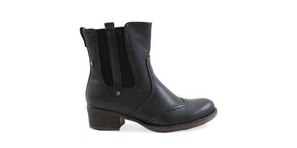 Dámske čierne topánky s pružnou vsadkou Ctogo Gogo