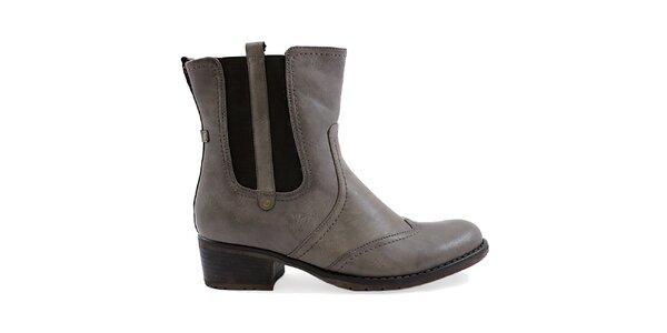 Dámske šedé topánky s pružnou vsadkou Ctogo Gogo