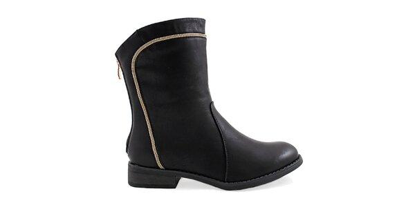 Dámske čierne členkové topánky Ctogo Gogo
