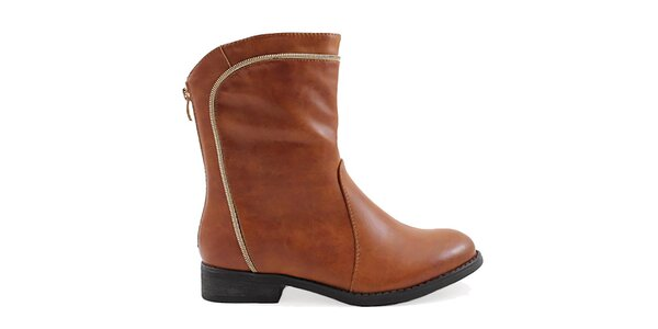 Dámske hnedé členkové topánky Ctogo Gogo