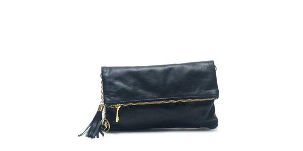 Dámska čierna kožená kabelka do ruky Carla Ferreri