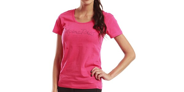 Dámske ružové tričko s krátkym rukávom Alpine Pro