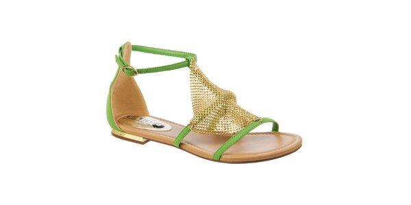 Dámske zelené sandále Betsy