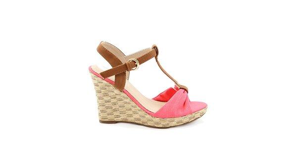 Dámske červené sandále na kline Bless
