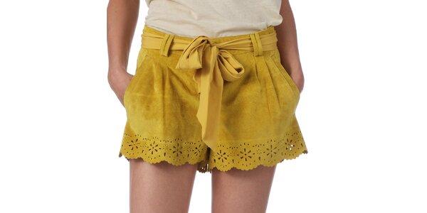 Dámske žlté šortky s perforáciou My Little Poesy