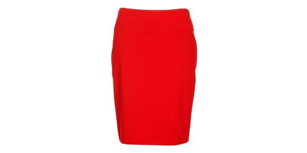 Dámska červená púzdrová sukňa Pietro Filipi