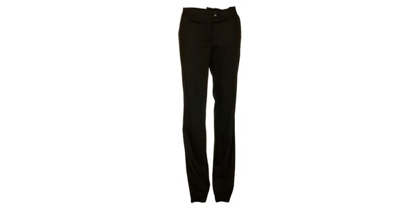 Dámske čierne prúžkované nohavice Pietro Filipi