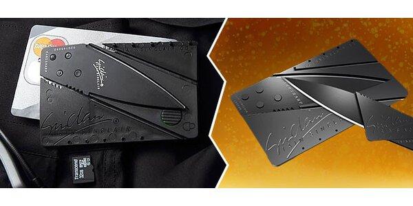 Supertenký nôž skladajúci sa do kreditky