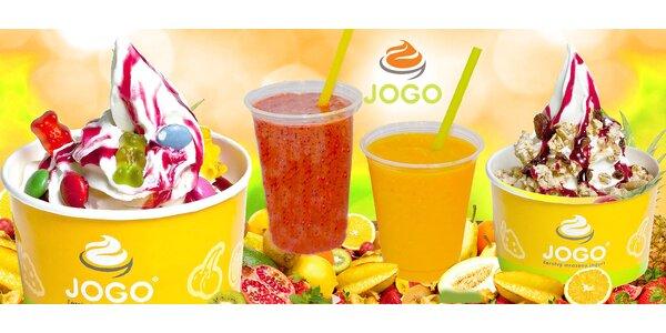 100 % ovocné Smoothie alebo mrazený jogurt