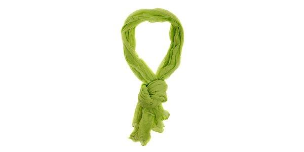 Dámska limetkovo zelená bavlnená šatka Pietro Filipi