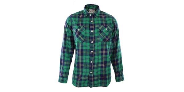 Pánska zeleno kockovaná košeľa Goodyear