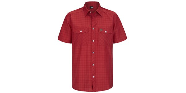 367acbf40c534 Pánska červená kockovaná funkčná košeľa s krátkym rukávom Maier