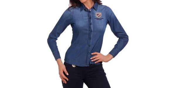 Dámska džínsová košeľa Galvanni