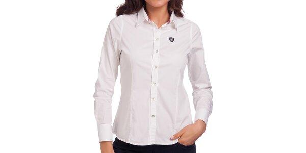 Dámska biela košeľa s dlhým rukávom Galvanni