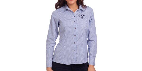 Dámska modro-biela prúžkovaná košeľa Galvanni