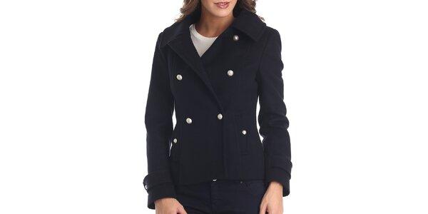 Dámsky tmavo modrý krátky kabátik Galvanni