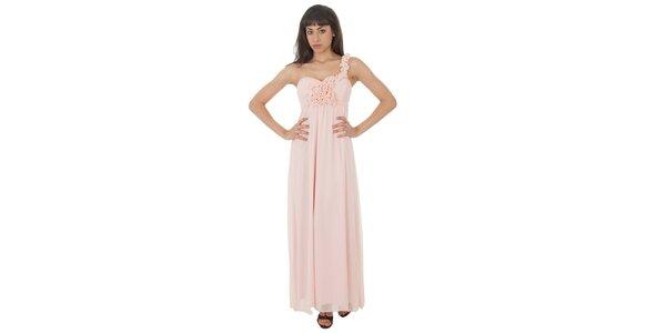 Dámske dlhé svetlo ružové šaty Paola Pitti