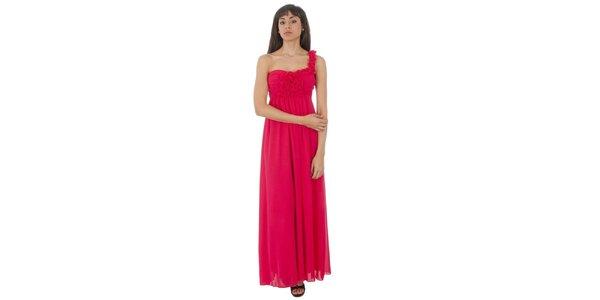 Dámske dlhé fuchsiové šaty Paola Pitti
