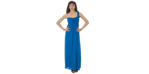 Dámske dlhé žiarivo modré šaty Paola Pitti