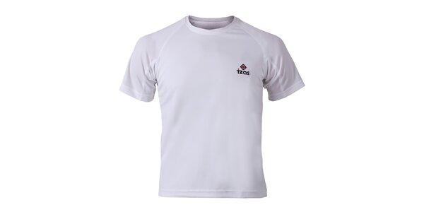 Pánske biele funkčné tričko s krátkym rukávom Izas