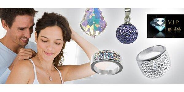 2,50 eur za voucher na zľavu 5 eur na šperky Swarovski Elements so zľavou 50 %!