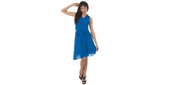 Dámske akvamarínové šaty s americkými prieramkami Paola Pitti