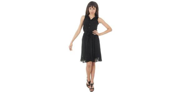 Dámske čierne šaty s americkými prieramkami Paola Pitti