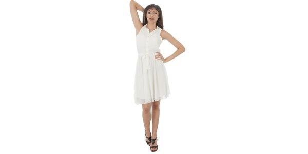Dámske biele šaty s americkými prieramkami Paola Pitti