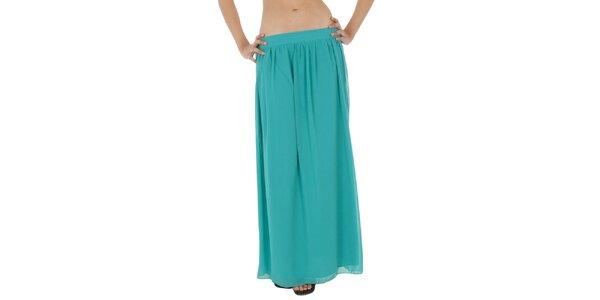 Dámska tyrkysová dlhá sukňa Paola Pitti