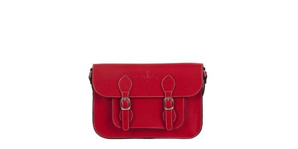 Dámska červená aktovka s popruhom Paola Pitti